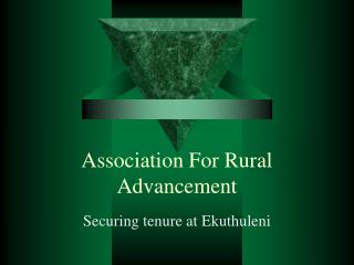 Association For Rural Advancement