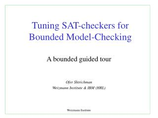 Tuning SAT-checkers for Bounded Model-Checking