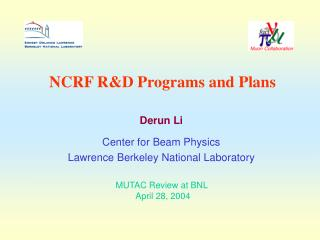 NCRF R&D Programs and Plans