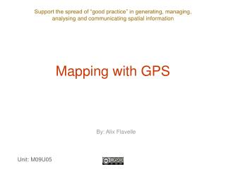 Mapping with GPS