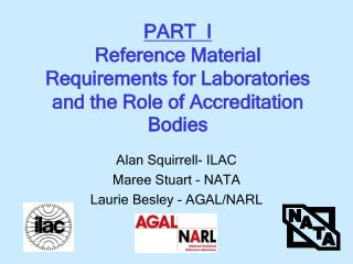 PART  I Reference Material Requirements for Laboratories and the Role of Accreditation Bodies