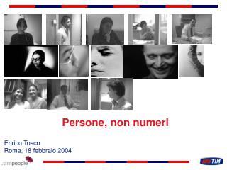 Persone, non numeri
