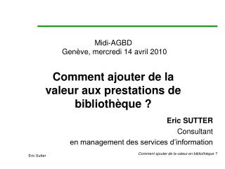Midi-AGBD  Gen�ve, mercredi 14 avril 2010
