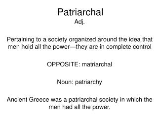Patriarchal