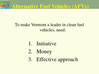Alternative Fuel Vehicles (AFVs)