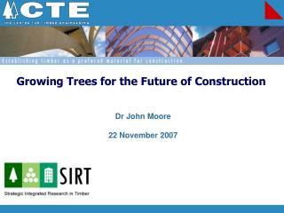 Dr John Moore  22 November 2007
