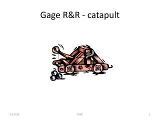 Gage R&R - catapult