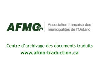 Centre d'archivage des documents traduits afmo-traduction