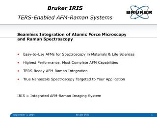 Bruker IRIS TERS-Enabled AFM-Raman Systems