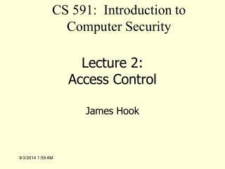 Lecture 2: Access Control