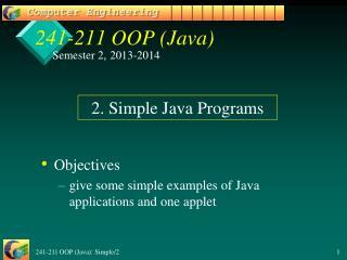 241-211 OOP (Java)
