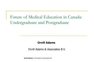 Future of Medical Education in Canada: Undergraduate and Postgraduate