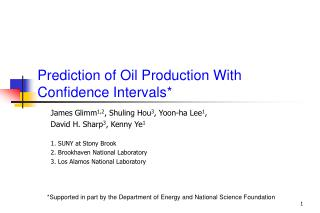 Prediction of Oil Production With Confidence Intervals