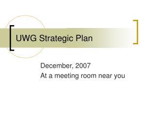 UWG Strategic Plan