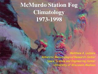 McMurdo Station Fog Climatology 1973-1998