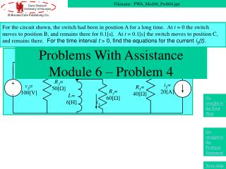 Problems With Assistance Module 6 – Problem 4