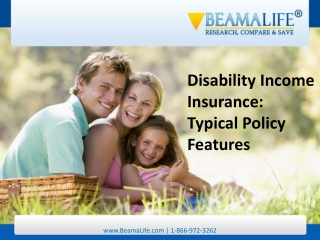 Disability Income Insurance Typical Policy Features