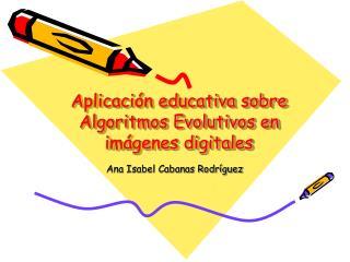 Aplicación educativa sobre Algoritmos Evolutivos en imágenes digitales