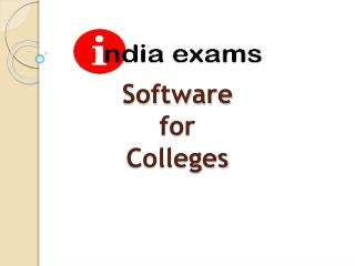 Offers Software  for  Colleges