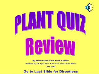 PLANT QUIZ Review