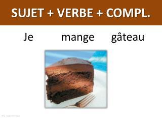 SUJET + VERBE + COMPL.