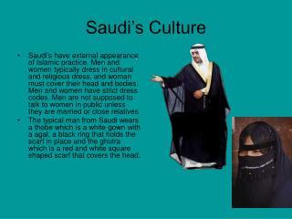 Saudi's Culture