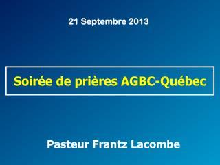 Pasteur Frantz Lacombe
