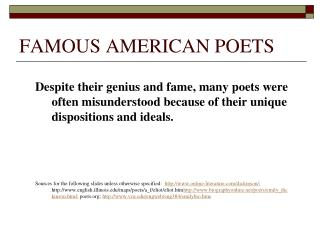 FAMOUS AMERICAN POETS