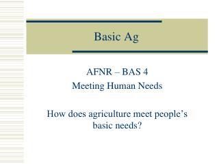 Basic Ag