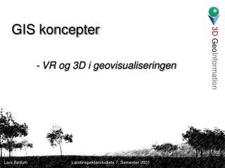 GIS koncepter