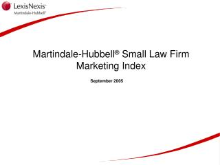 Martindale-Hubbell  Small Law Firm Marketing Index