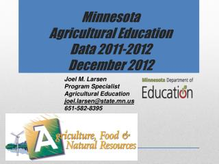 Minnesota  Agricultural Education  Data 2011-2012 December 2012