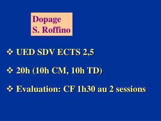 Dopage S. Roffino
