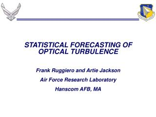 STATISTICAL FORECASTING OF OPTICAL TURBULENCE