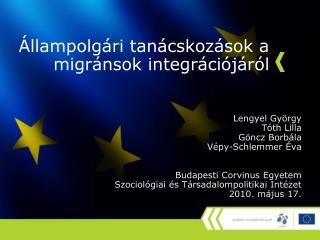 Állampolgári tanácskozások a migránsok integrációjáról