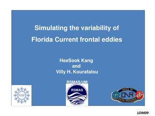Simulating the variability of  Florida Current frontal eddies