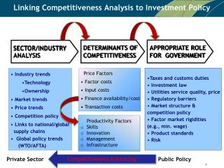 Linking Competitiveness Analysis  to  Investment Policy
