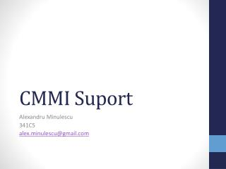 CMMI  Suport