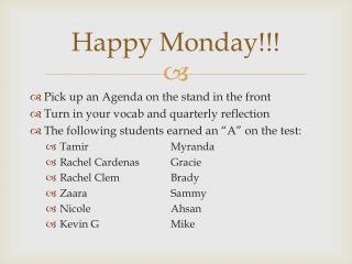 Happy Monday!!!