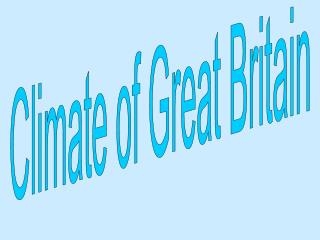 Climate of Great Britain