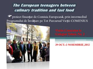 Vizita Comenius la Colegiul Tehnic Nr. 2 29 OCT.-2 NOIEMBRIE,2012