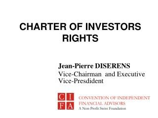 CHARTER OF INVESTORS RIGHTS