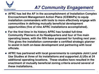 A7 Community Engagement