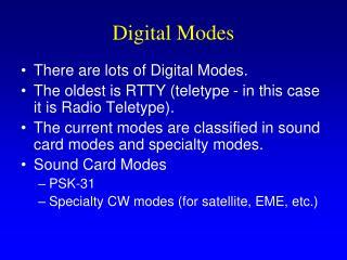 Digital Modes