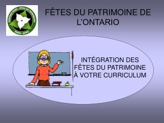 INT�GRATION DES F�TES DU PATRIMOINE � VOTRE CURRICULUM