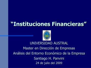 """Instituciones Financieras"""