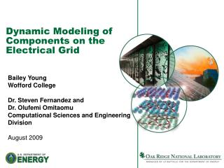 Dynamic Modeling of Components on the Electrical Grid