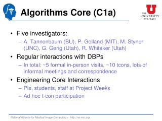 Algorithms Core (C1a)