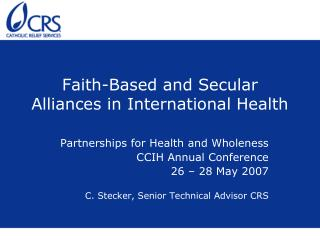 Faith-Based and Secular Alliances in International Health