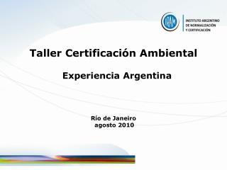 Taller Certificación Ambiental